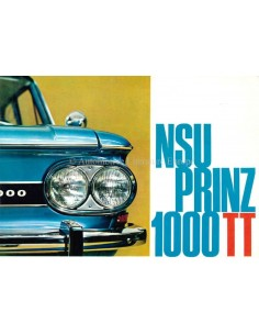 1966 NSU PRINZ 1000 TT BROCHURE DUTCH