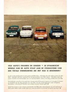 1968 NSU PRINZ 1000 C / 1200 / TT 1200 / TTS RANGE BROCHURE DUTCH