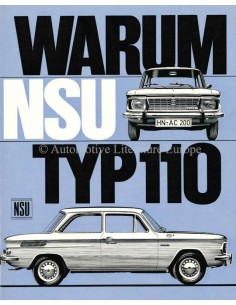 1965 NSU TYP 110 PROSPEKT DEUTSCH