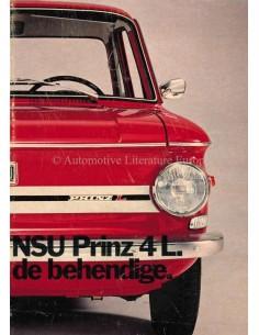 1971 NSU PRINZ 4L PROSPEKT NIEDERLÄNDISCH
