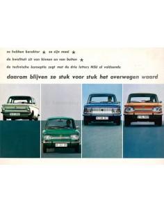 1971 NSU PRINZ 4L / 1000 C / 1200 C / TT 1200 /  1000 TTS RANGE BROCHURE DUTCH