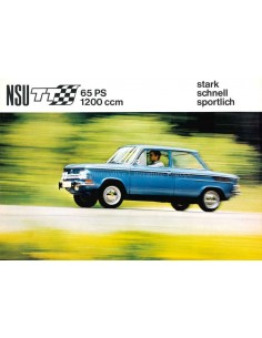 1968 NSU TT BROCHURE GERMAN