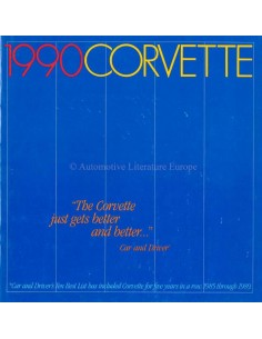 1990 CHEVROLET CORVETTE PROSPEKT ENGLISCH