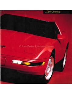 1991 CHEVROLET CORVETTE PROSPEKT ENGLISCH