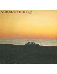 1966 SUBARU 1000 BROCHURE JAPANESE