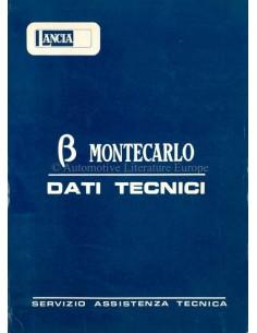 1975 LANCIA BETA MONTECARLO TECHNISCHE DATEN ENGLISCH