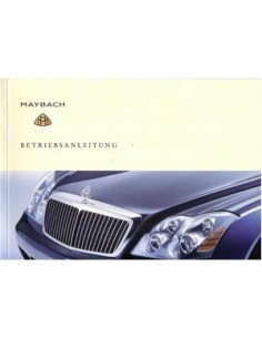 2002 MAYBACH 57 & 62 OWNERS MANUAL HANDBOOK GERMAN