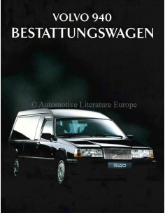1995 VOLVO 940 FUNERAL CAR BROCHURE GERMAN