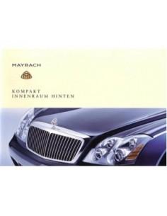 2002 MAYBACH OWNERS MANUAL HANDBOOK INTERIOR BACK GERMAN