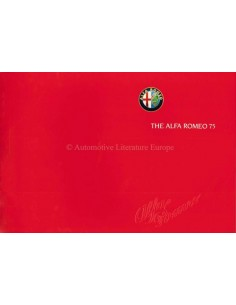 1989 ALFA ROMEO 75 BROCHURE ENGLISH