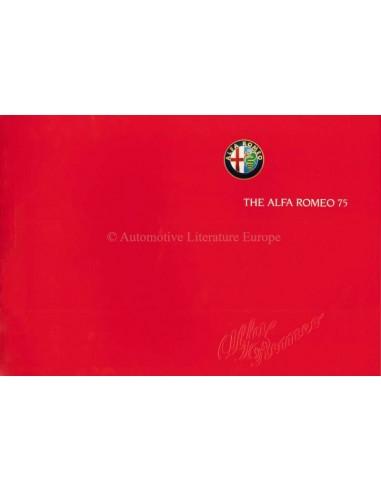 1989 ALFA ROMEO 75 BROCHURE ENGELS