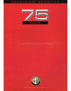 1991 ALFA ROMEO 75 INDY BROCHURE DUTCH