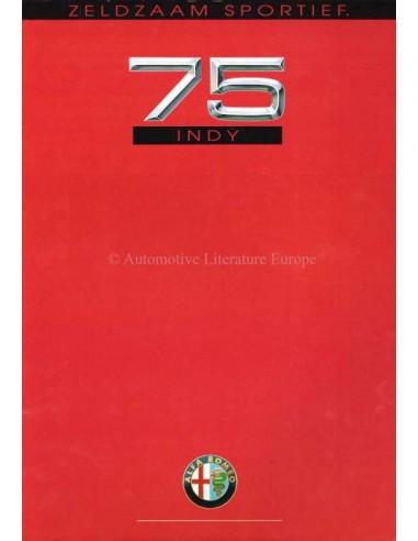 1991 ALFA ROMEO 75 INDY BROCHURE NEDERLANDS