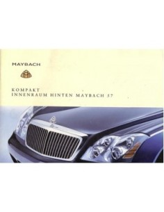2002 MAYBACH OWNERS MANUAL HANDBOOK INTERIOR BACK GERMAN