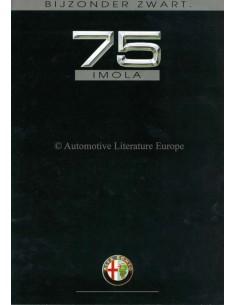 1991 ALFA ROMEO 75 IMOLA BROCHURE DUTCH