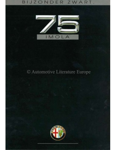 1991 ALFA ROMEO 75 IMOLA BROCHURE NEDERLANDS
