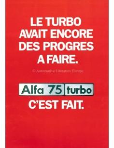 1986 ALFA ROMEO 75 TURBO BROCHURE FRENCH