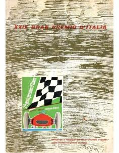 1958 29. GROßER PREIS VON ITALIEN (MONZA) OFFIZIELLER KATALOG ITALIENISCH