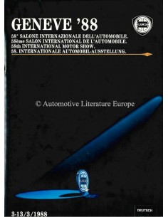 1988 LANCIA GENEVA PRESSKIT ENGLISH