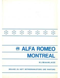 1972 ALFA ROMEO MONTREAL AIRCO SUPPLEMENT OWNERS MANUAL GERMAN