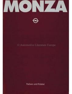 1978 OPEL MONZA COLORS & INTERIOR BROCHURE GERMAN