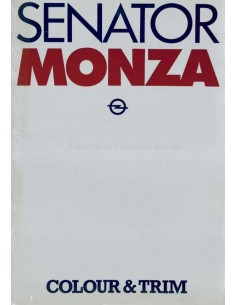 1979 OPEL SENATOR & MONZA BROCHURE ENGLISH