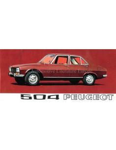 1969 PEUGEOT 504 SEDAN BROCHURE NEDERLANDS