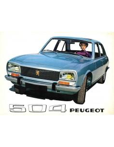 1969 PEUGEOT 504 SALOON BROCHURE DUTCH