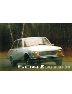 1973 PEUGEOT 504 L PROSPEKT FRANZÖSISCH