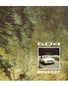1974 PEUGEOT 504 L / GL / TI BROCHURE DUTCH