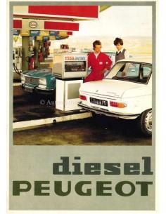 1976 PEUGEOT DIESEL 204 / 504 BROCHURE DUTCH