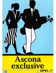 1987 OPEL ASCONA C EXCLUSIVE BROCHURE DUTCH