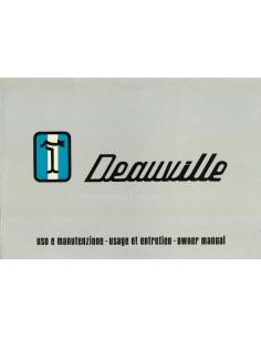 1972 DE TOMASO DEAUVILLE BETRIEBSANLEITUNG