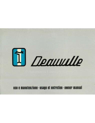 1972 DE TOMASO DEAUVILLE INSTRUCTIEBOEKJE