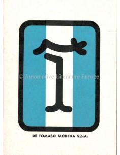 1976 DE TOMASO PANTERA GTS WARRANTY & MAINTENANCE MANUAL