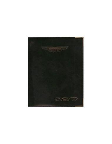 1996 ASTON MARTIN DB7 INSTRUCTIEBOEKJE ENGELS