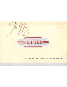1952 AUSTIN HEALEY 3 LITRE SPORTS CONVERTIBLE BROCHURE ENGLISH