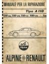 1970 ALPINE A110 1300 / 1600 REPARATURANLEITUNG ITALIENISCH