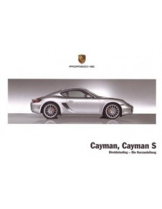 2008 PORSCHE CAYMAN & S QUICK OWNERS MANUAL HANDBOOK GERMAN