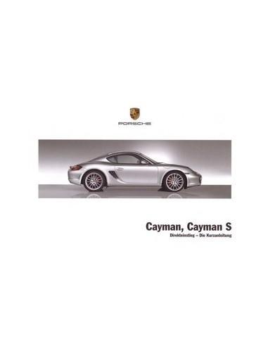 2008 PORSCHE CAYMAN & S VERKORT INSTRUCTIEBOEKJE DUITS