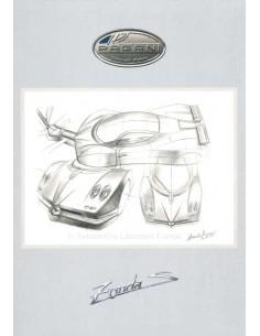 2000 PAGANI ZONDA C12 S PROSPEKT ITALIENISCH / ENGLISCH