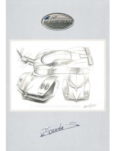 2000 PAGANI ZONDA C12 S BROCHURE ITALIAANS / ENGELS