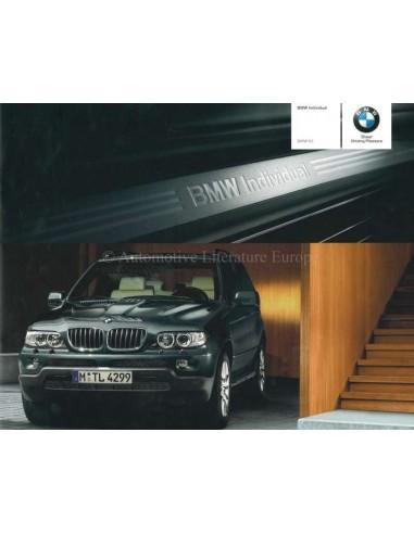 2005 BMW X5 INDIVIDUAL BROCHURE ENGELS