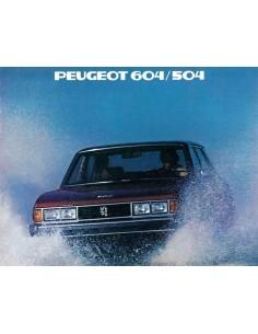 1979 PEUGEOT 604 / 504 BROCHURE ENGLISCH (USA)