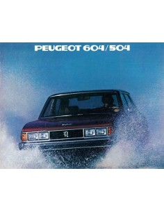 1979 PEUGEOT 604 / 504 BROCHURE ENGLISH (US)