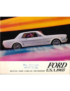 1965 FORD PROGRAMMA BROCHURE NEDERLANDS
