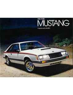 1980 FORD MUSTANG BROCHURE ENGELS (USA)