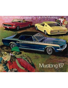 1967 FORD MUSTANG BROCHURE ENGELS (USA)