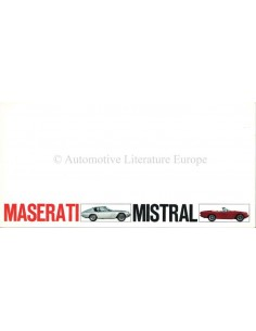 1968 MASERATI MISTRAL + SPIDER PROSPEKT