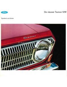 1966 FORD TAUNUS 12M PROSPEKT NIEDERLÄNDISCH